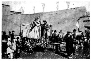 American relief workers used this horse-drawn ambulance during the siege of Urumia in February 1918. The Russian army withdrew from northwest Persia in 1917. This left Urumia vulnerable to attacks from the Ottoman Turkish army. Miraculously, the local Persian population defended the city against invaders until July 1918.