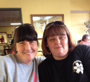 Stacy Quintana (left) with her cousin, Dara Williams, the day before Stacy was killed