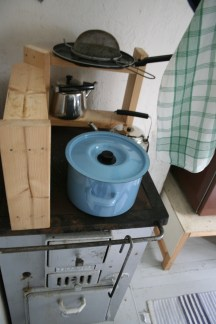 pots and pans, old stoves and the new ones