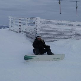 All the slopes were not yet open at Ylläs