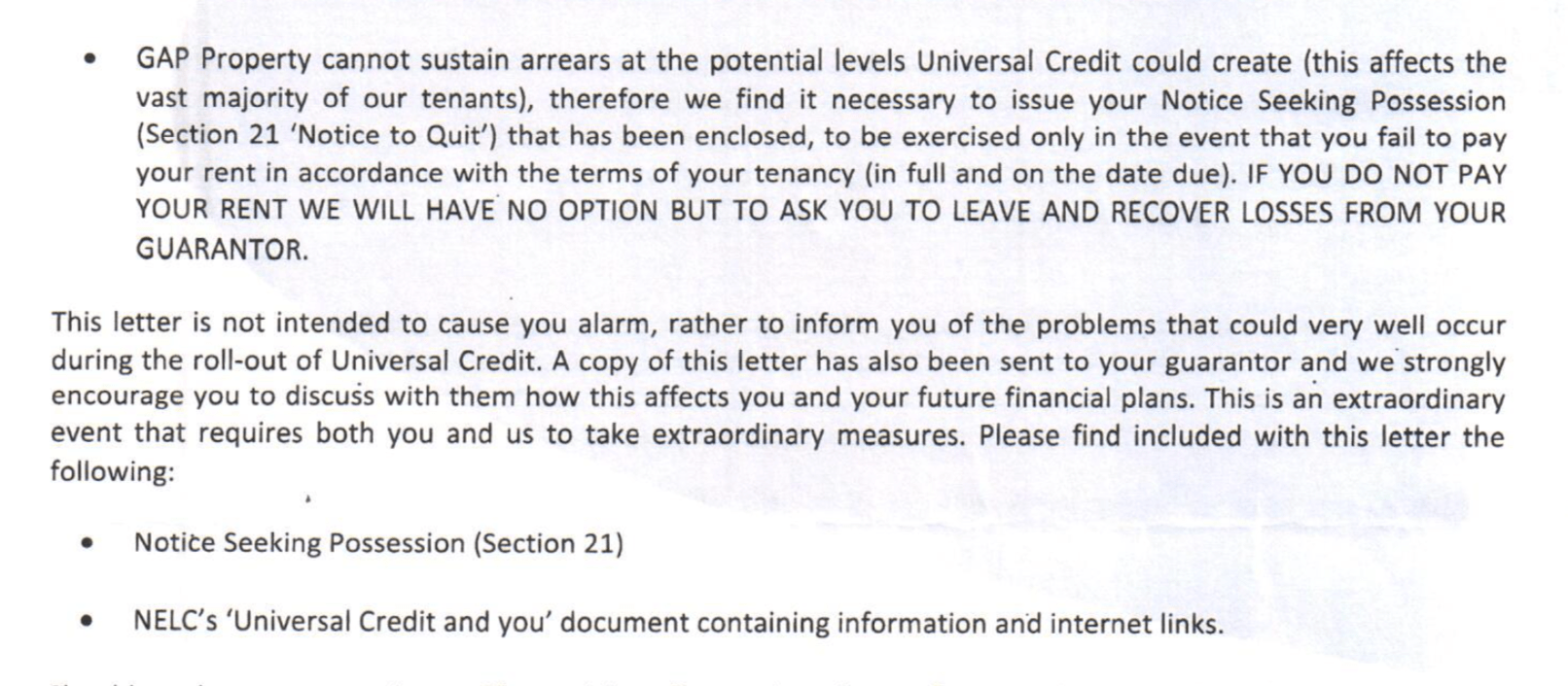 Universal Credit - here comes the homelessness - Nearly Legal