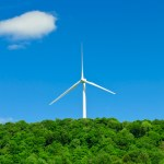 Land and ocean wind farms produce base load power