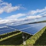 Solar Farm or Fields spaced apart in different locations (distributed generation) reduces intermittent power going into the Grid.