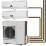 The above split AC/Heat pump units can be added to any home or business. Net metering and the right number of solar electric modules will make this heating and cooling system net-zero.