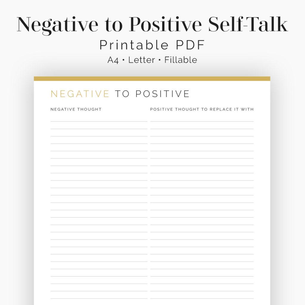 Negative To Positive Self Talk