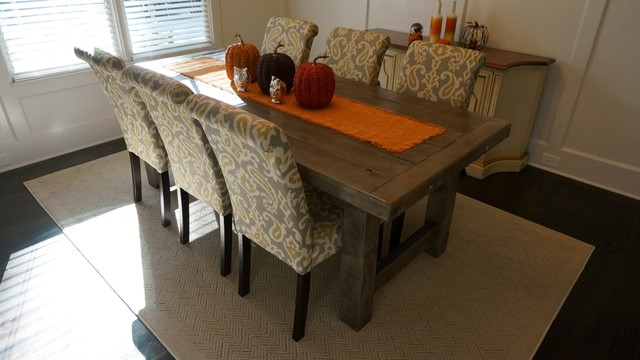Rustic Brown Dining Room Table