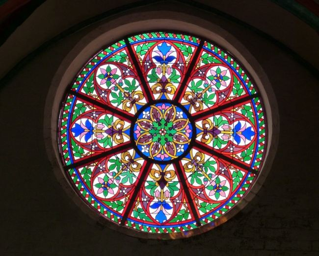 Colored Glass Panel