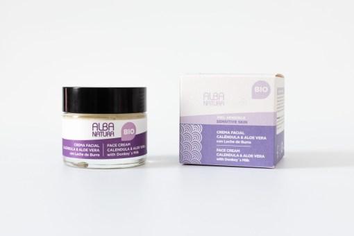 Crema facial piel sensible