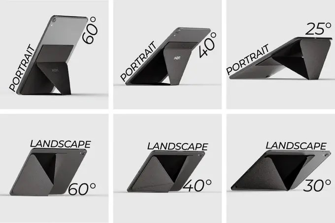 MoftX angles for phone stand