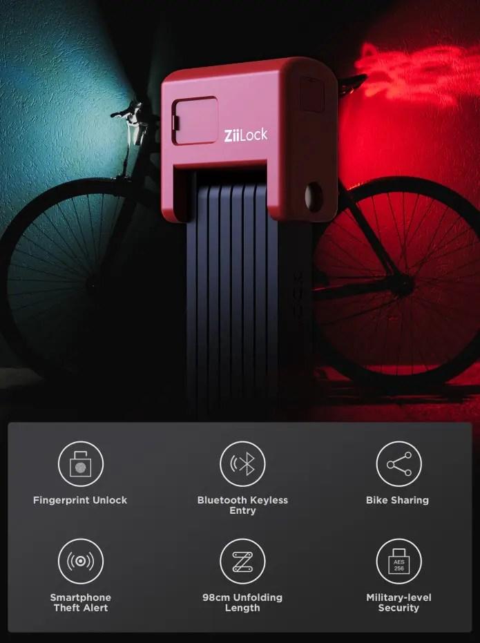 Ziilock smart bike lock