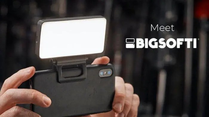 BIGSOFTI: A portable soft-light for better photos & video.