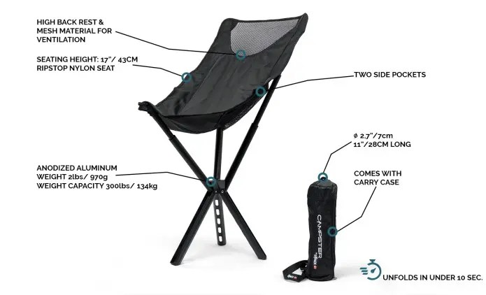 sitpack campster chair