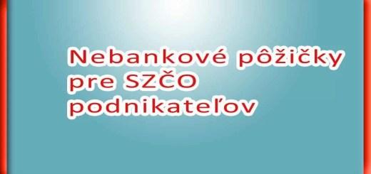 Nebankové pôžičky pre SZČO podnikateľov