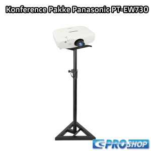 Konference-/Projektor Pakke – Panasonic PT-EW730 – 7000 Lumen – Lærred 284×184