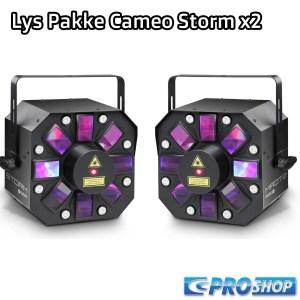Lys Pakke (2 x Lamper) Cameo Storm