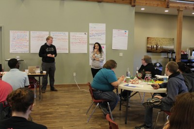 Youth worked together to select the bills they were most passionate about.