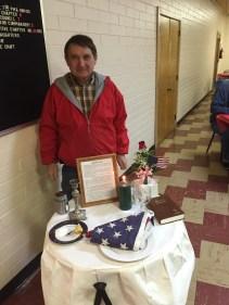 "Fremont veteran Ron Vlach set up a ""missing man"" table to commemorate our fallen service men."