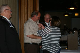 Greg Kava receiving his 25 year pin