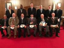 Newly installed officers of Waterloo Lodge No. 102.