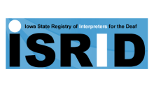 Iowa Registry of Interpreters for the Deaf logo