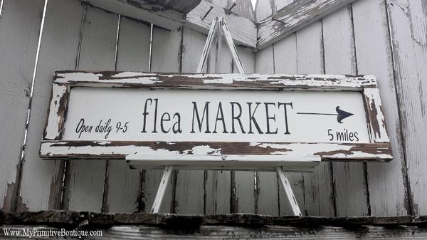 KITCHEN IDEAS FLEA MARKET SIGN FARM HOUSE DECOR Wedding Signs Shabby Chic Signs