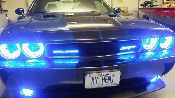 Illuminated Challenger Badge X Lume Illuminated Car Products