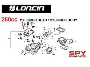 250cc loncin engine diagrams spy racing engine parts | Spy