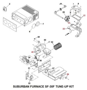 Suburban Furnace Model SF30F TuneUp Kit | pdxrvwholesale