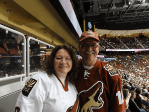 BizNasty 6.2 (at the time) with my fave Coyotes fan