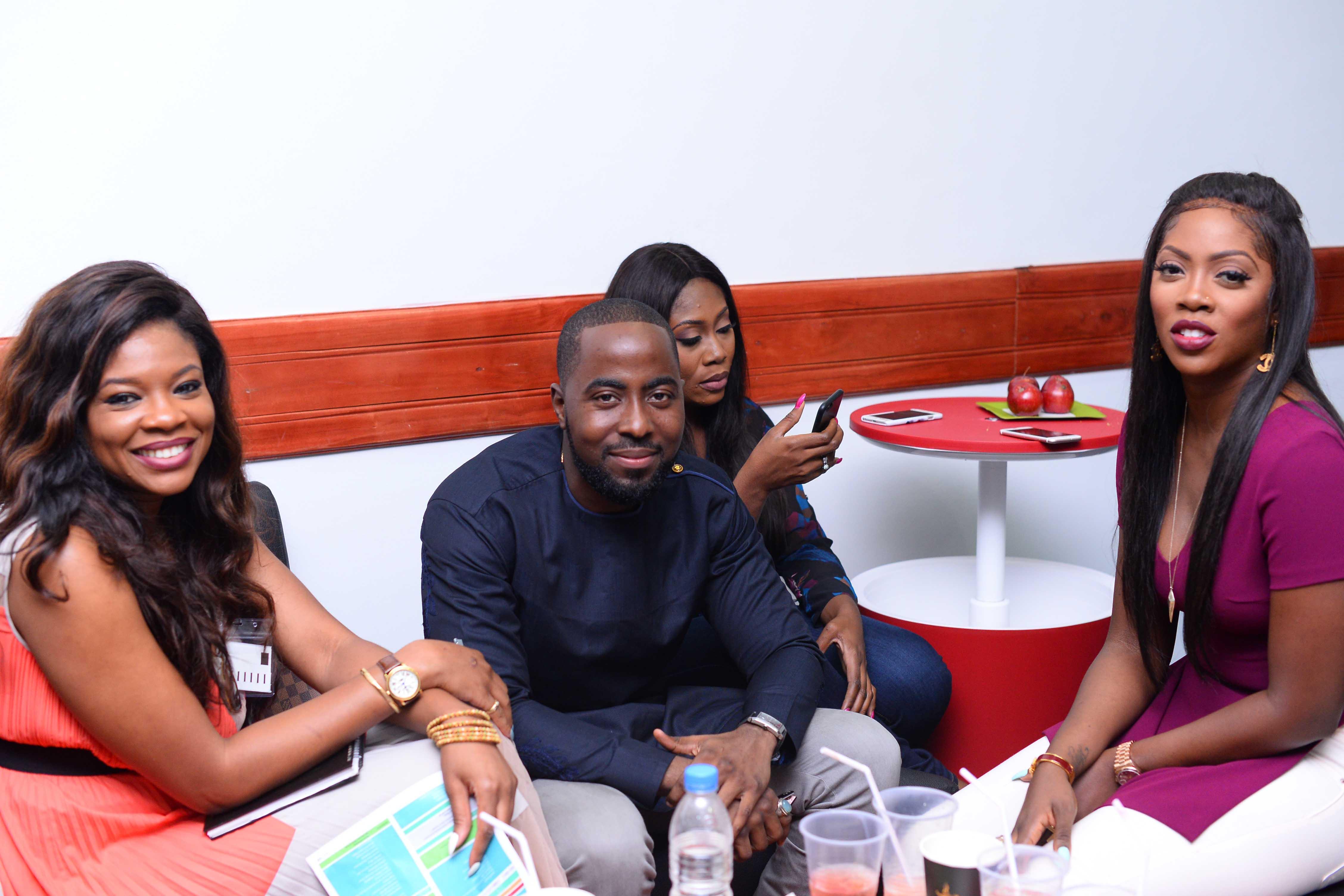 Kemi Adetiba, DJ Case, Gbemi Olateru & Tiwa Savage at NECLive 4