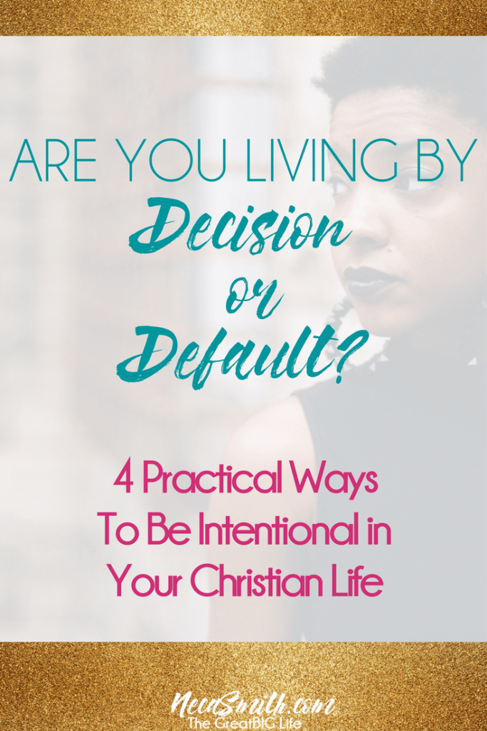Being intentional in our Christian life can be difficult in this day of distraction. But God gives us the power through His Holy Spirit to do so.. Read to learn how to cultivate a more intentional life.