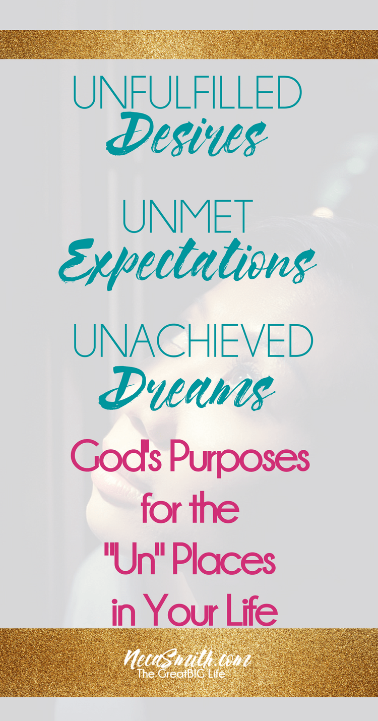 The reality vs the expectations of life we planned can be disappointing. The Bible let's us know the purposes of some of our unfulfilled desires and dreams.