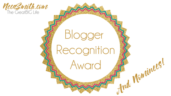 Blogger Recognition Award – and Nominees!