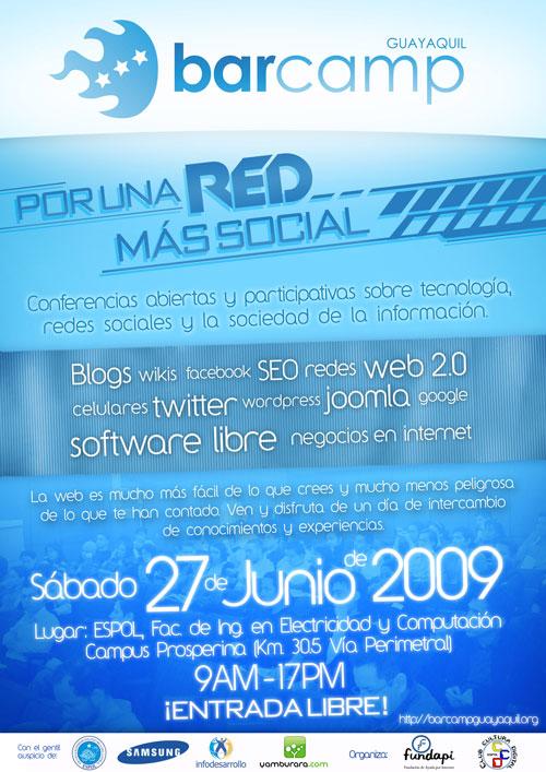 Afiche BaCamp Guayauil 2009