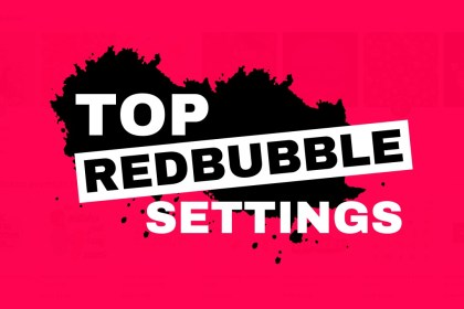 redbubble settings for new sellers