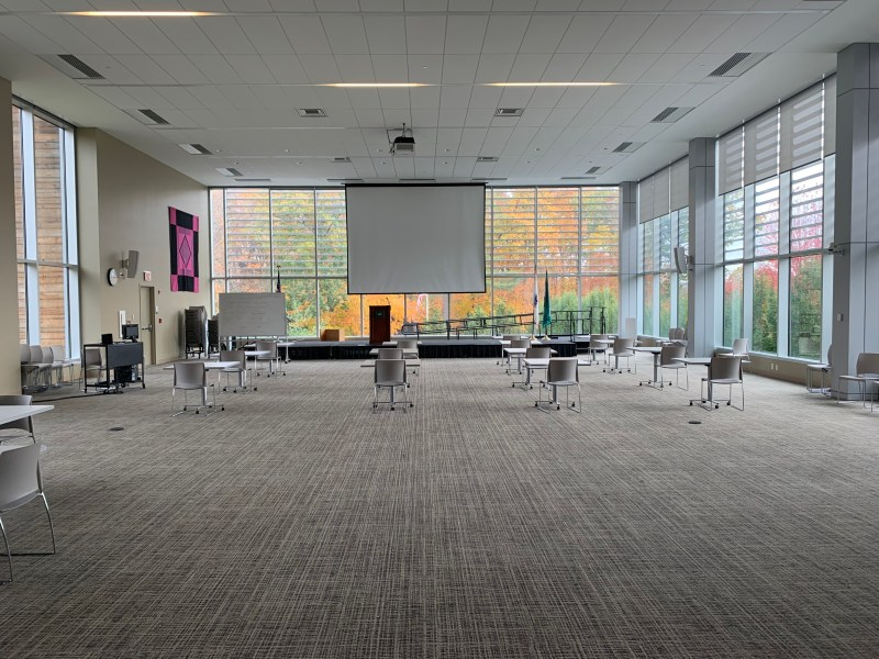 inside new building at GCC