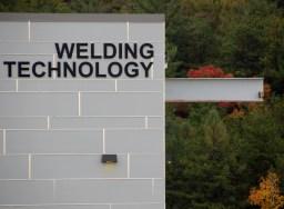 Welding school sign