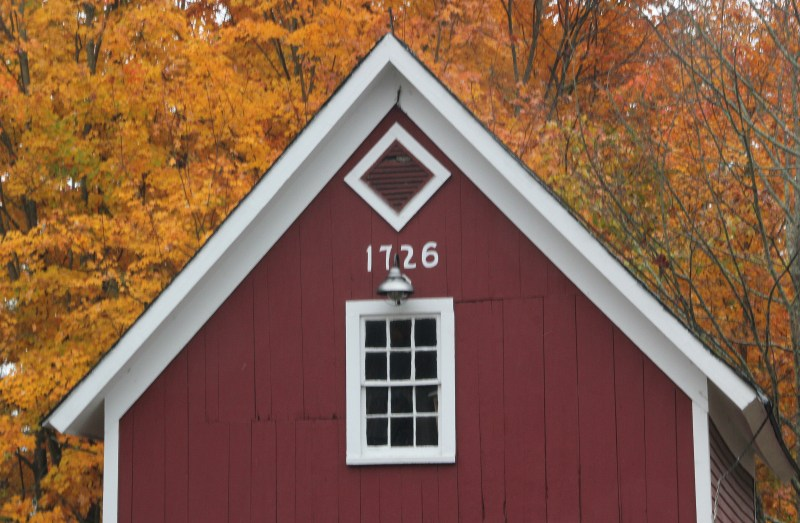 Top of barn with 1726 date
