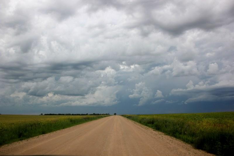 open road cloudy sky