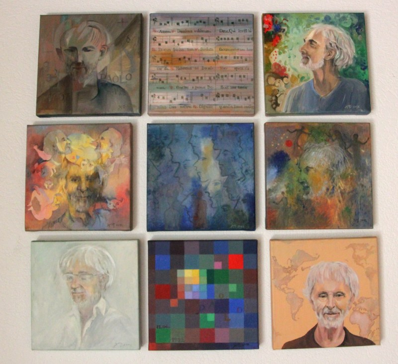 gallery wall of Paolo Knill portraits