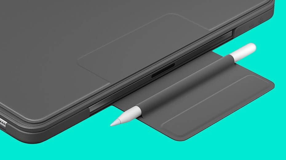 完全に保護できないもののApple Pencilを収納可能