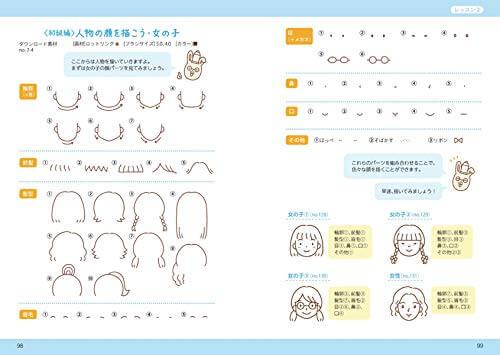 イラスト練習帖には描く手順を詳しく解説