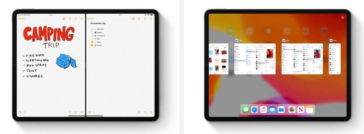 横に2つ同じアプリを起動して、2つの書類を見比べながら編集できる