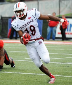 Duquesne WR Chris King, a Third Team selection, caught 14 TD passes.