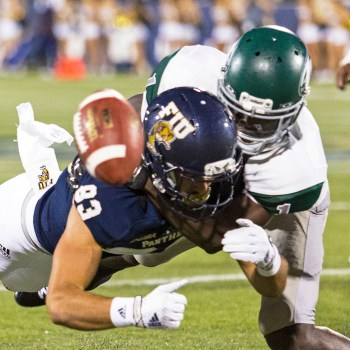 Wagner DB Jarrett Dieudonne, a Third Team selection, made 7 INT in 2014 and returned 3 picks for TDs.