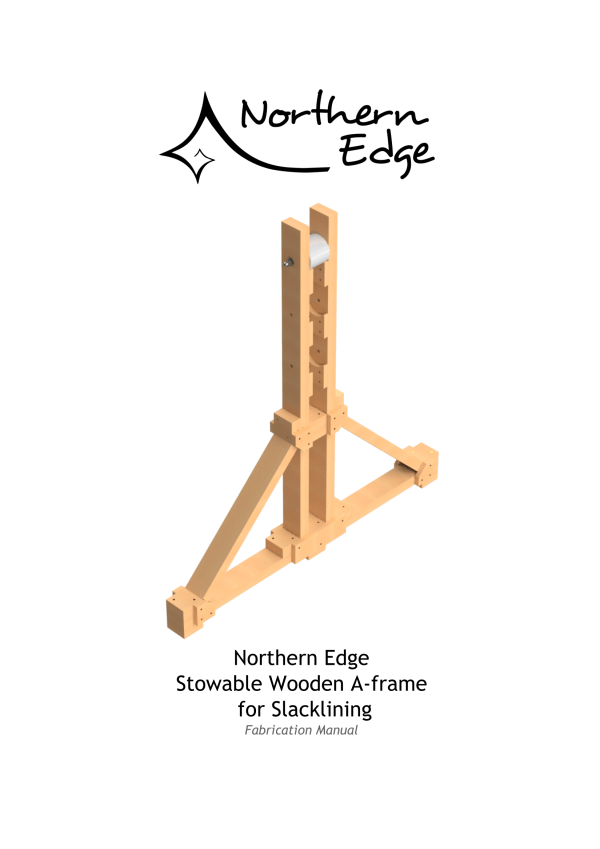 Northern Edge - Stowable Wooden A-frame for Slacklining