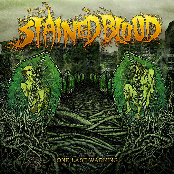 stained blood - one web