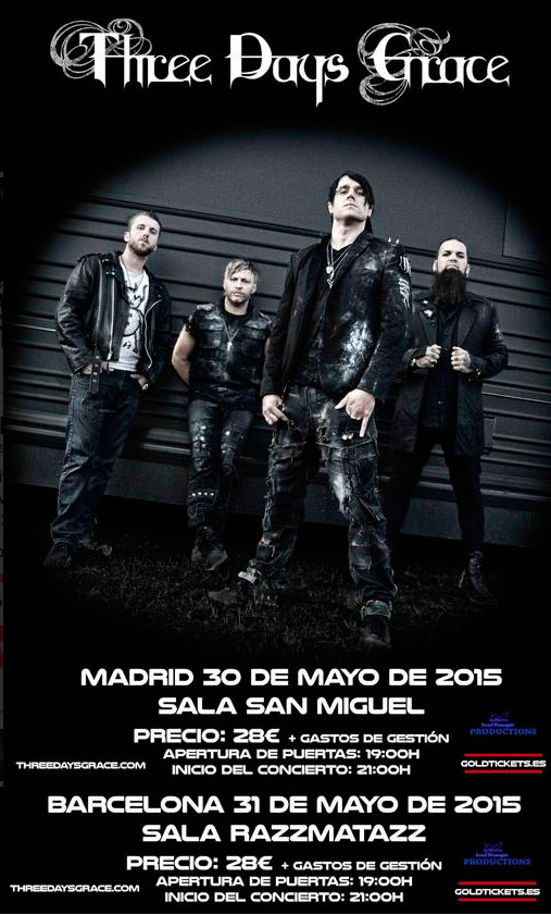 Poster dos fechas Three Days Grace (1)