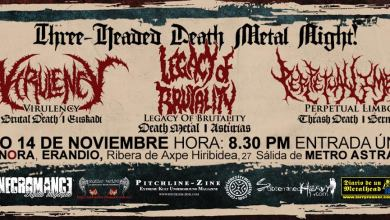 Photo of [GIRAS Y CONCIERTOS] VIRULENCY + LEGACY OF BRUTALITY + PERPETUAL LIMBO – Sala Sonora 14.11.2015 Erandio, Bilbao