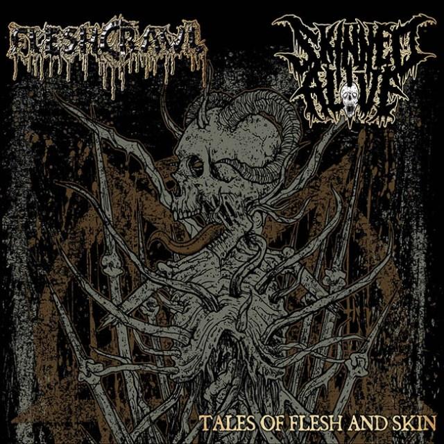 fleshcrawl - skinned - split cd - web